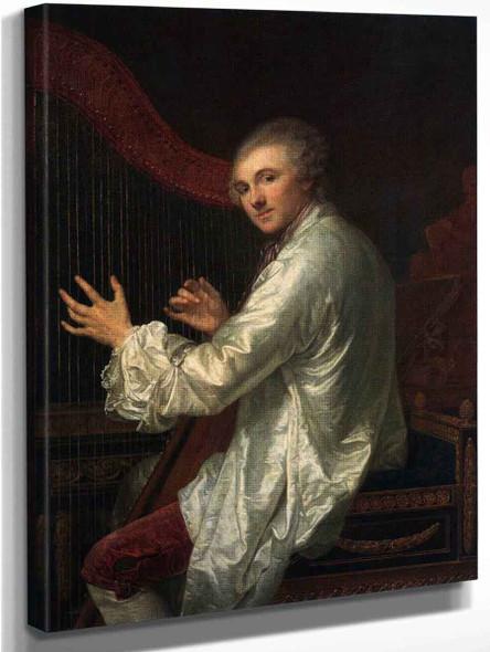 Ange Laurent De La Live De Jully By Jean Baptiste Greuze
