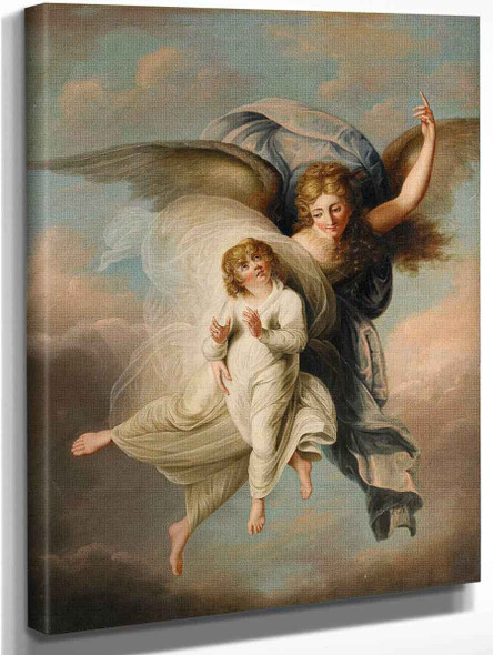 Angel And Child By Angelica Kauffmann By Angelica Kauffmann