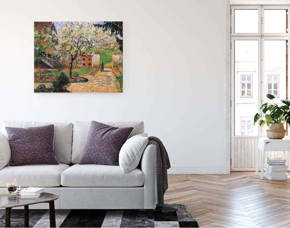 Flowering Plum Tree, Eragny By Camille Pissarro By Camille Pissarro