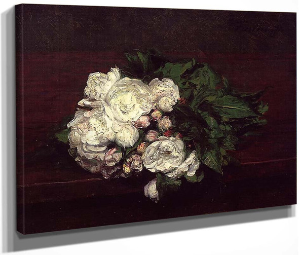 Flowers, White Roses By Henri Fantin Latour By Henri Fantin Latour