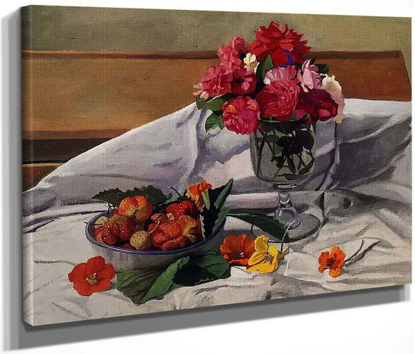 Flowers And Strawberries By Felix Vallotton