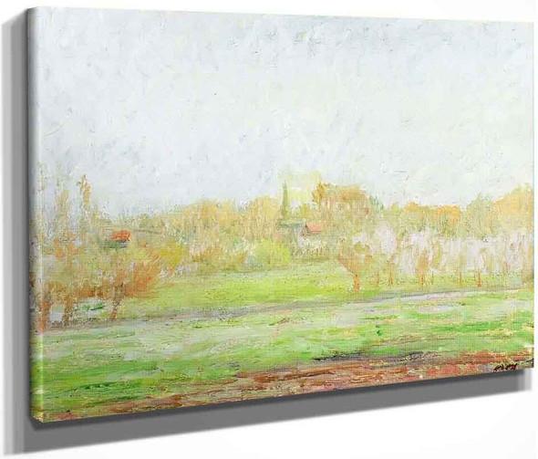 Fog In Eragny By Camille Pissarro By Camille Pissarro