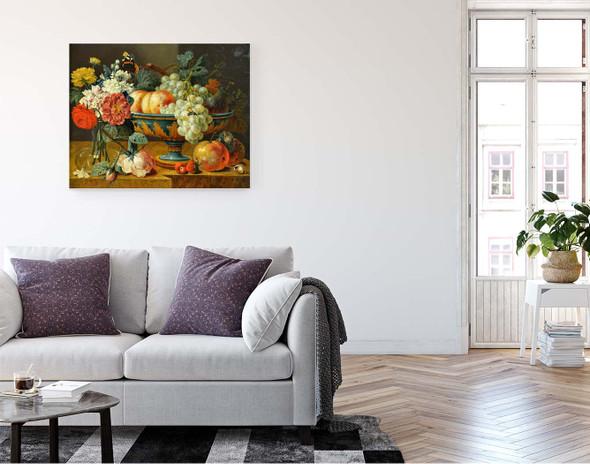 Fruit Bowl With Flowers By Jan Davidszoon De Heem By Jan Davidszoon De Heem