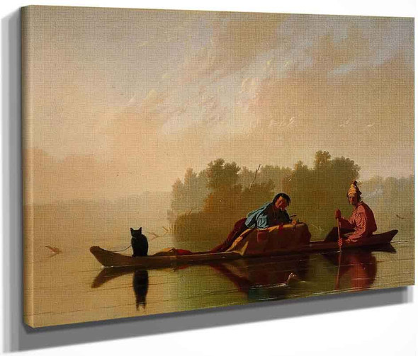 Fur Traders Descending The Missouri By George Caleb Bingham By George Caleb Bingham
