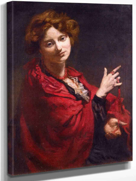 Anita Bartle, The Red Shawl By Sir William Orpen By Sir William Orpen