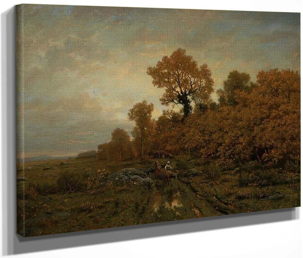 Gathering Wood In The Forest Of Fontainebleau By Theodore Rousseau