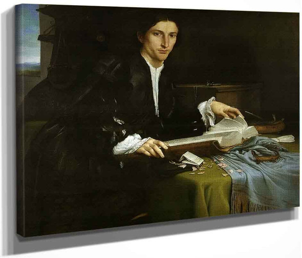 Gentleman In His Study By Lorenzo Lotto
