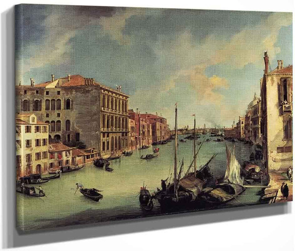 Grand Canal Looking East From The Campo S. Vio By Canaletto By Canaletto