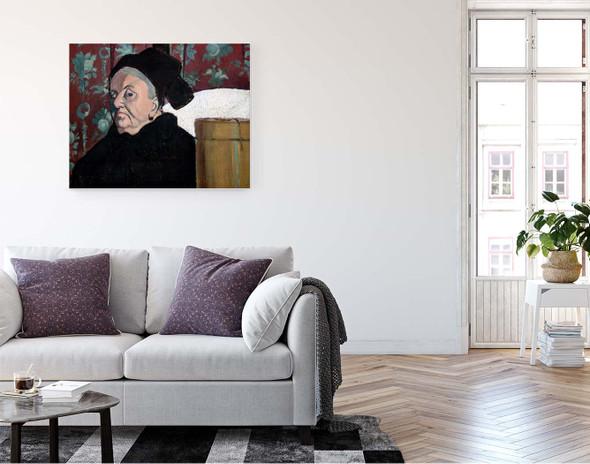 Grandmother By Emile Bernard  By Emile Bernard