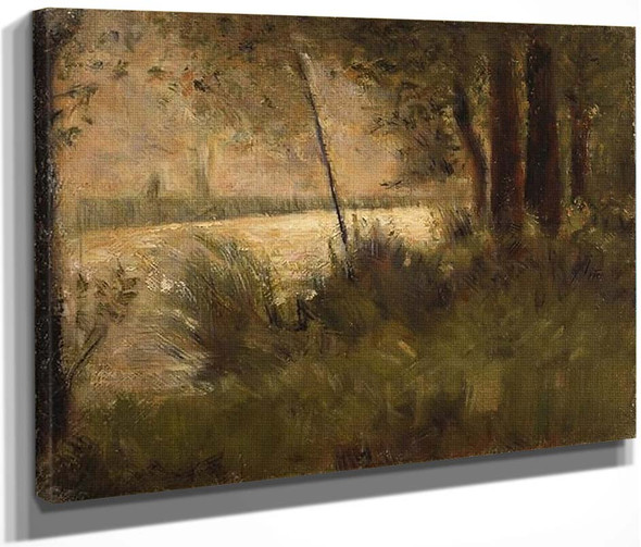 Grassy Riverbank By Georges Seurat