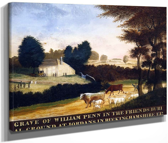 Grave Of William Penn At Jordans In England1 By Edward Hicks