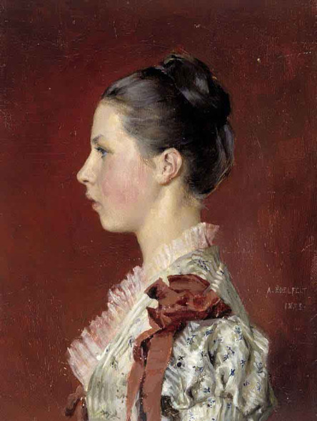 Annie Edelfelt. The Painter's Youngest Siste By Albert Edelfelt