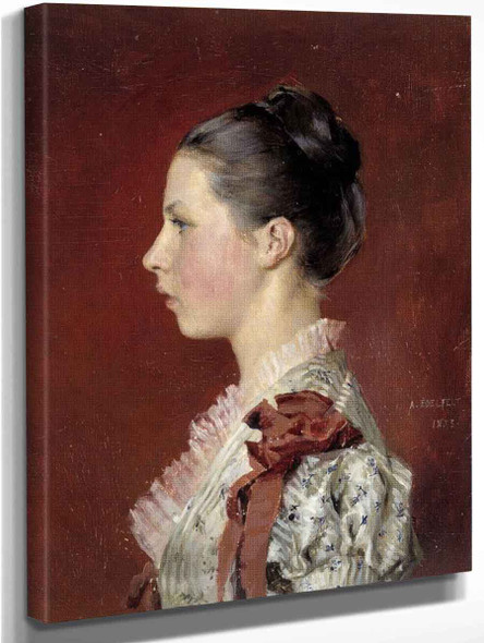 Annie Edelfelt. The Painter's Youngest Siste By Albert Edelfelt Art Reproduction