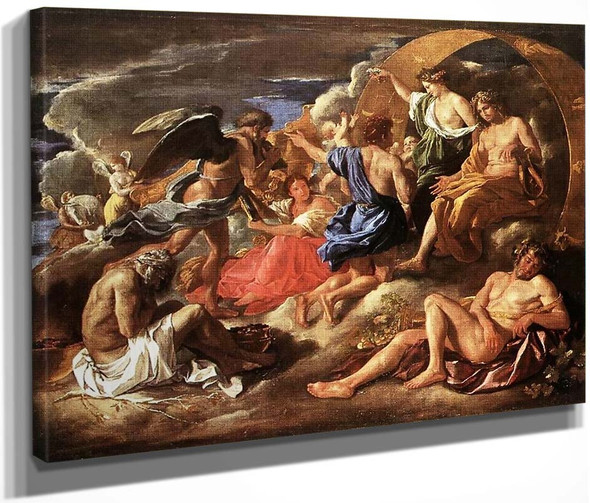 Helios And Phaeton With Saturn And The Four Seasons By Nicolas Poussin By Nicolas Poussin