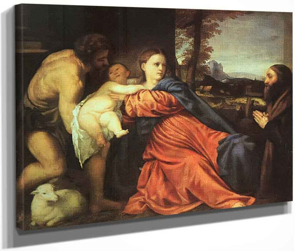 Holy Family And Donor By Titian