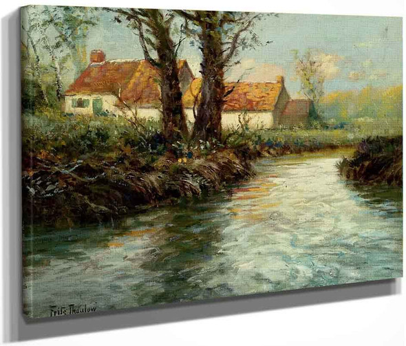 House By The Water's Edge By Fritz Thaulow