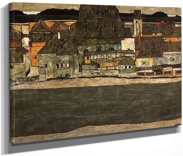 Houses By The River Ii By Egon Schiele By Egon Schiele