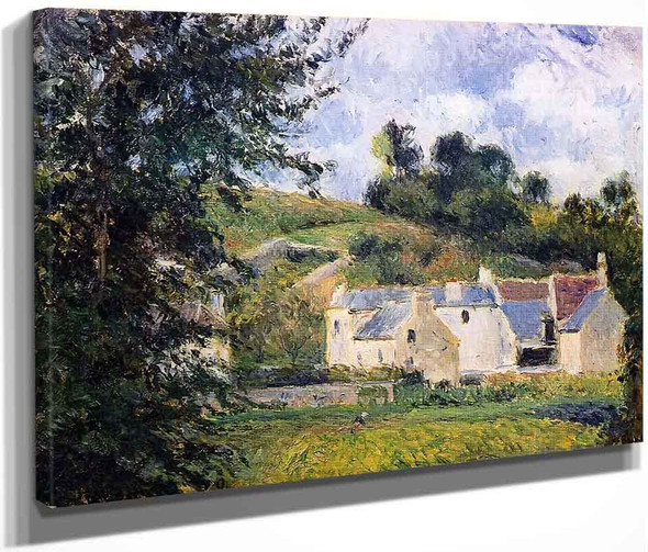 Houses Of L'hermitage, Pontoise By Camille Pissarro By Camille Pissarro
