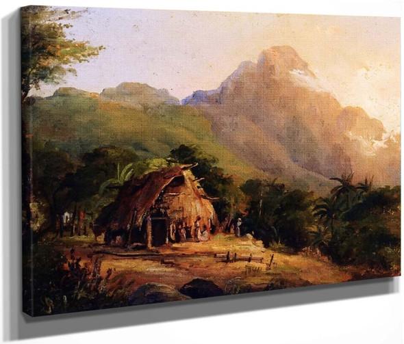 Hut In A Mountainous Landscape, Galipan By Camille Pissarro By Camille Pissarro