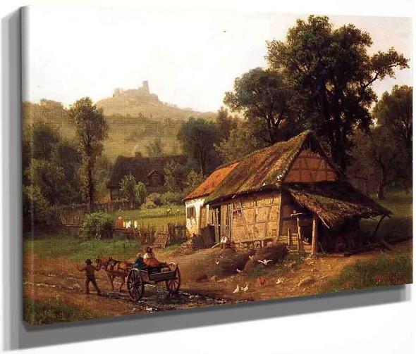 In The Foothills By Albert Bierstadt By Albert Bierstadt