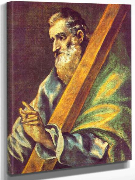 Apostle St Andrew1 By El Greco By El Greco