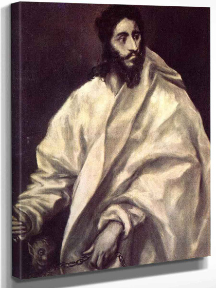 Apostle St Bartholomew By El Greco By El Greco