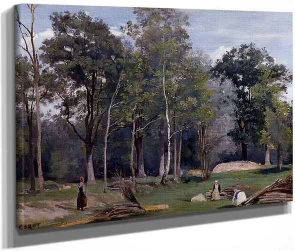 In The Woods At Ville Davray By Jean Baptiste Camille Corot By Jean Baptiste Camille Corot