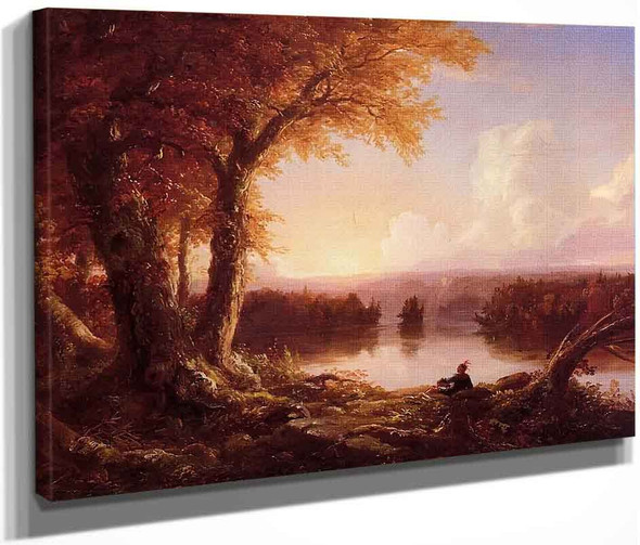 Indian At Sunset By Thomas Cole By Thomas Cole