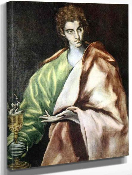 Apostle St John The Evangelist By El Greco By El Greco