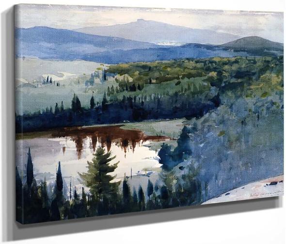 Indian Village, Adirondacks By Winslow Homer