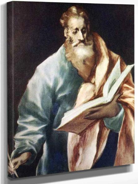 Apostle St Matthew By El Greco By El Greco