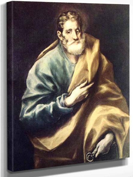 Apostle St Peter By El Greco By El Greco