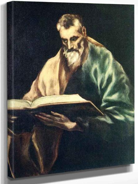 Apostle St Simon By El Greco By El Greco
