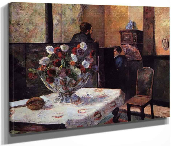 Interior Of The Painter's House, Rue Carcel By Paul Gauguin  By Paul Gauguin