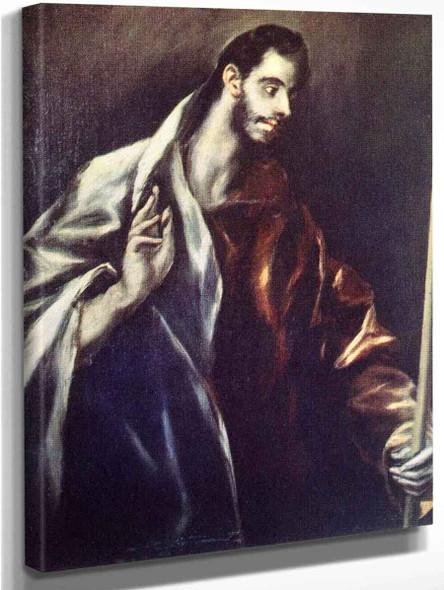 Apostle St Thomas By El Greco By El Greco