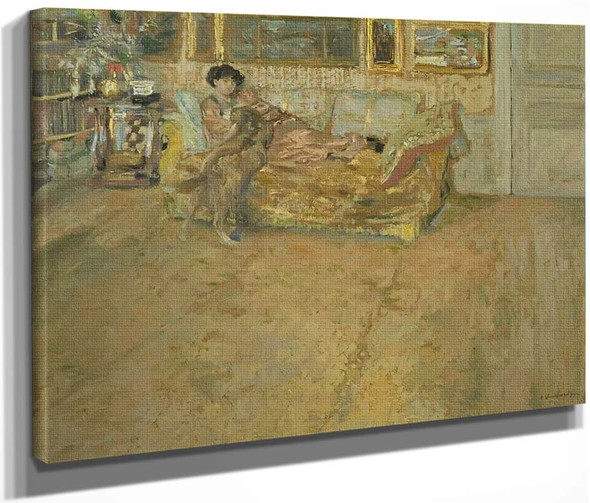 Interior With Madame Hessel And Her Dog By Edouard Vuillard