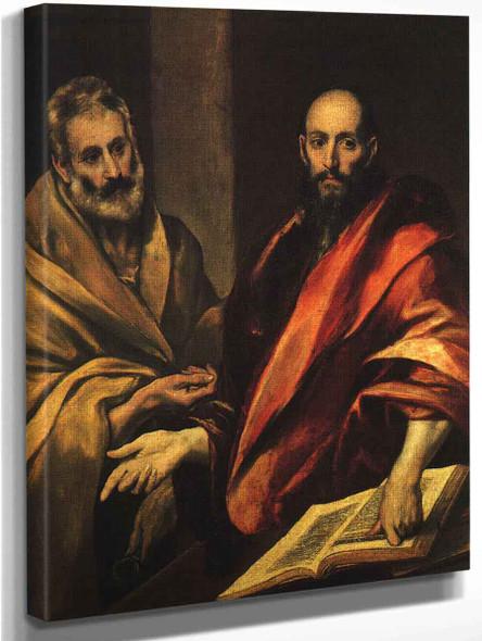 Apostles Peter And Paul By El Greco By El Greco