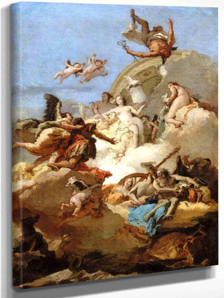 Apotheosis Of Aeneas By Giovanni Battista Tiepolo