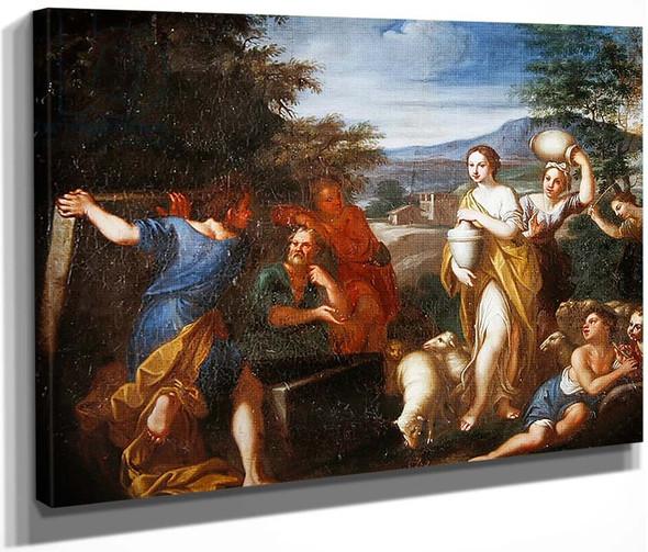 Jacob Protecting Rachel By Francesco Albani By Francesco Albani