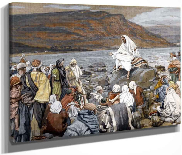 Jesus Teaches The People By The Sea By James Tissot