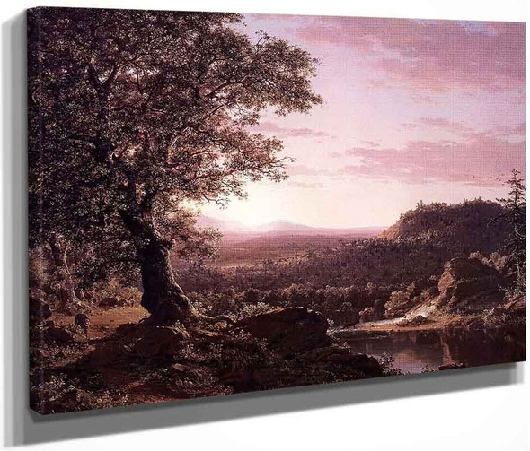 July Sunset, Berkshire County, Massachusetts By Frederic Edwin Church By Frederic Edwin Church