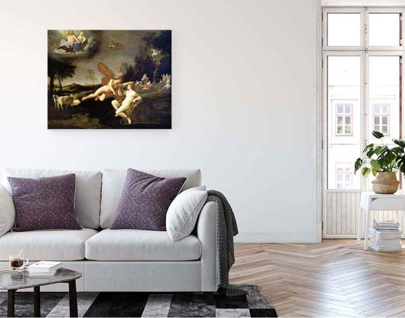 Jupiter Sends Mercury To Call Apollo By Francesco Albani By Francesco Albani