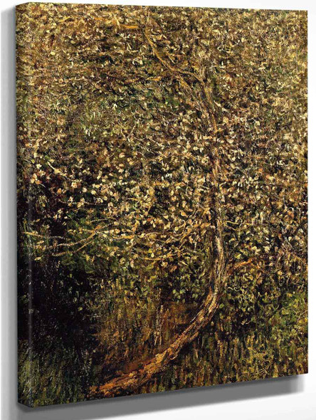 Apple Trees In Blossom By The Water By Claude Oscar Monet
