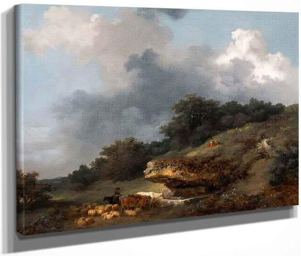 L'abreuvoir  By Jean Honore Fragonard  By Jean Honore Fragonard