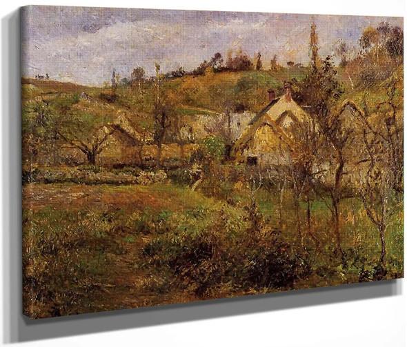 La Valhermeil, Near Pontoise By Camille Pissarro By Camille Pissarro