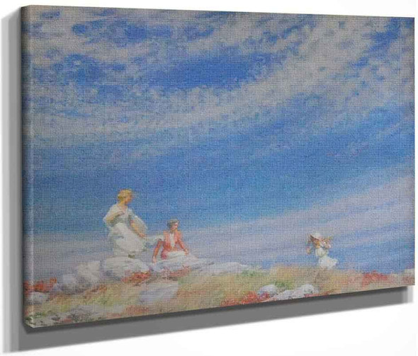 Lacy Clouds By Charles Courtney Curran By Charles Courtney Curran