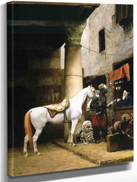 Arab Purchasing A Bridle By Jean Leon Gerome