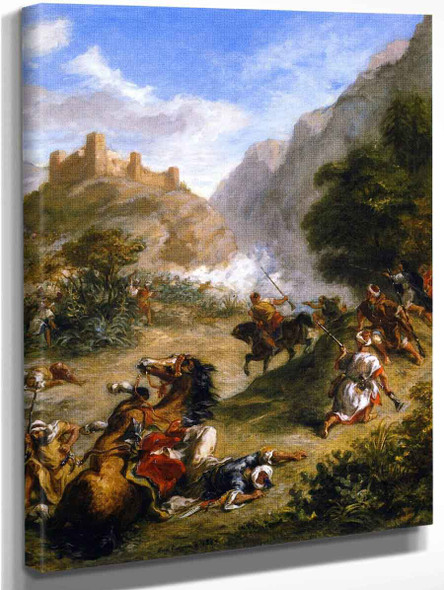 Arabs Skirmishing In The Mountains By Eugene Delacroix By Eugene Delacroix