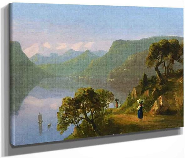 Lake Como By Sanford Robinson Gifford  By Sanford Robinson Gifford