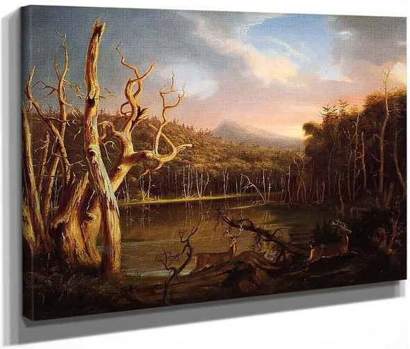 Lake With Dead Trees By Thomas Cole By Thomas Cole